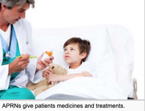 A male nurse practitioner is giving a sad five year old little boy medicine on a spoon.